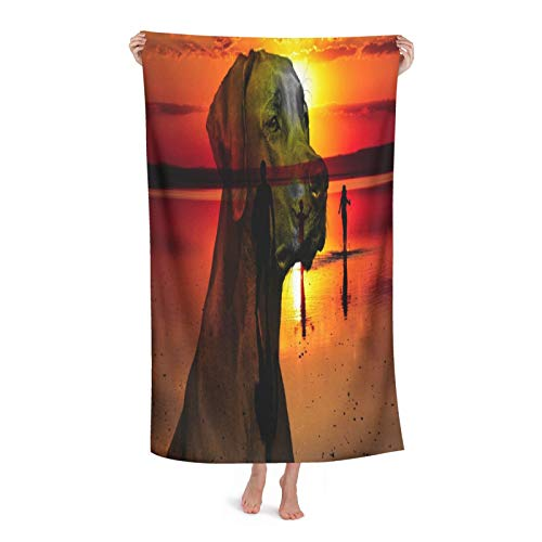 Photoshop Soft Beach Towel Portable Quick-Drying Bath Towel (Buckle And Bag) Outdoor Camping Hiking Pool Swimming Towel 2 Size Options