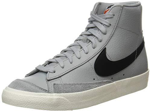 Nike Blazer Mid '77 Vintage, Scarpe da Basket Uomo, lt Smoke Grey/Black-Sail, 45 EU