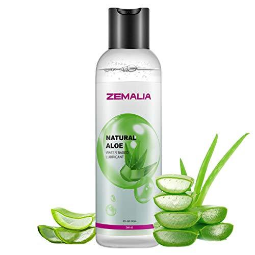 ZEMALIA | Gel lubricante sexual a base de agua íntimo de larga duración sabor aloe vera....