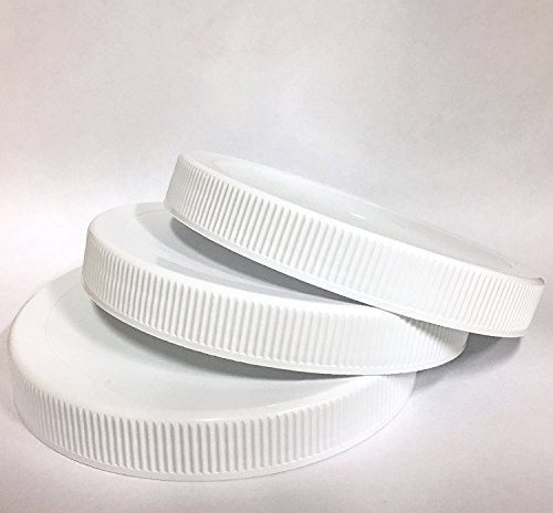 1 Gallon Fermentation Jar Replacement White Polypropylene Caps 110/400 (3, White Poly)
