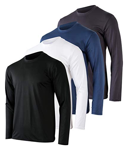 Mens Long Sleeve T-Shirt Workout...