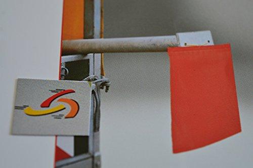 1 Stück Endfahne Schlussfahne Rot 30 x 30 cm Warnflagge überstehende Ladung Finne gem. StVO