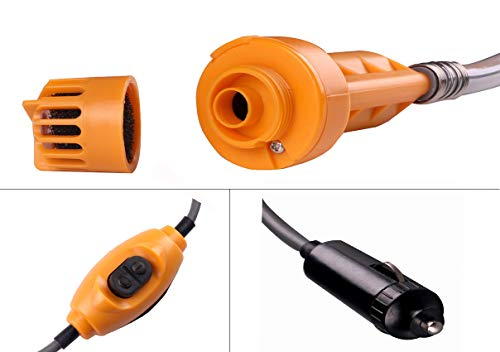 LIEBMAYA 12V car cigarette lighter Portable shower electrical pump for Outdoor Camping Car washing dog cleaning yellow …