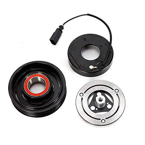Klimakompressor Magnetspule YUNRUX Magnetkupplung Riemenscheibe Magnetspule für A UDI A4 Allroad 8KH B8 6SAS14C