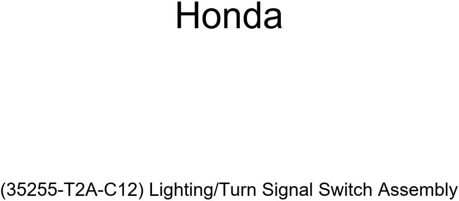 Genuine Honda Clearance specialty shop SALE Limited time 35255-T2A-C12 Lighting Assemb Signal Turn Switch