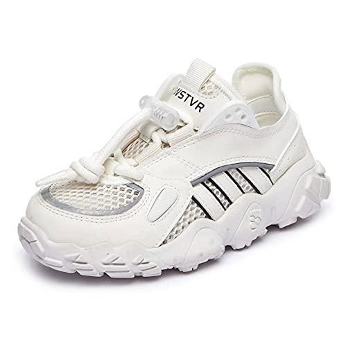 N\C Zapatos de Primavera para niños Zapatillas de Deporte de Malla Ligeras y Transpirables para niñas Zapatos Antideslizantes para niños