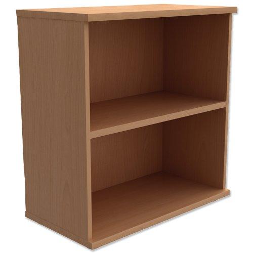 Trexus Low Bookcase with Adjustable Shelf and Floor-leveller Feet W800xD420xH853mm Beech
