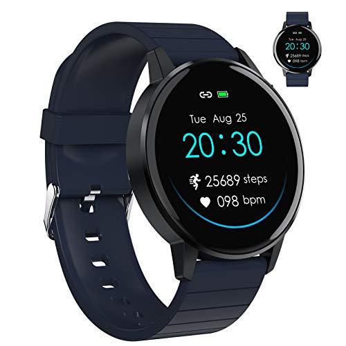 Smart Watch, Fitness-Tracker Mit Herzfrequenzmesser, Aktivitäts-Tracker Mit 1,3-Zoll-Touchscreen, Wasserdichte IP67-Schrittzähler-Smartwatch Mit Schlafmonitor, Schrittzähler Für Frauen Und Männer,D