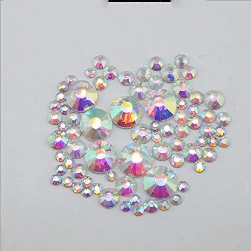 Mode Galerie Manucure Kit Nail Art Conseils faux ongles Starter Kits Paillettes Set Glitter Décoration Glitters couleur aléatoire,Blanc