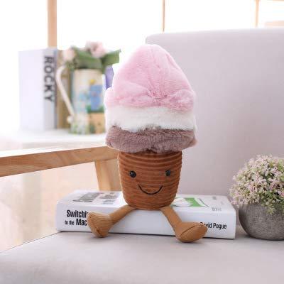 suxiaopei Neue kreative Obstkissen Avocado EIS Puppe Pilz Plüschtier Kinder Foto Requisiten sitzen hoch 17 cm EIS