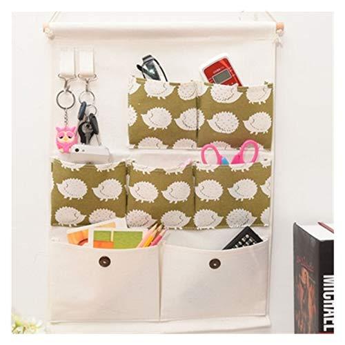 Caja de bolsas de la cesta de almacenamiento colgante de la pared, tela de lino premium sobre el organizador de la puerta, para el dormitorio de almacenamiento diario, el baño, la cocina Organizador d