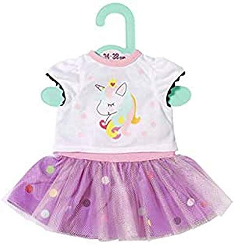 Zapf Creation 870563 Dolly Moda Einhorn Shirt mit Tutu Puppenkleidung 34-38 cm