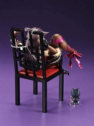 QI-shanping Japanische Anime Umarmungs-Katze-Mädchen-Figuren Chu-ka NA Neko & Stuhl PVC-Tätigkeits-Abbildung Anime Gril Sammler Modell Puppe Spielzeug, kein Kleinkasten