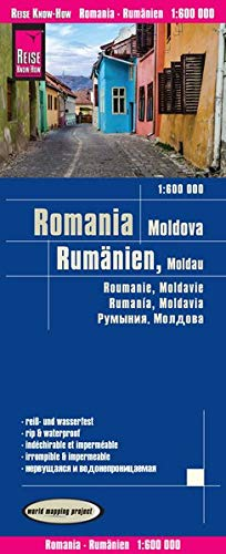 Reise Know-How Landkarte Rumänien, Moldau (1:600.000): world mapping project