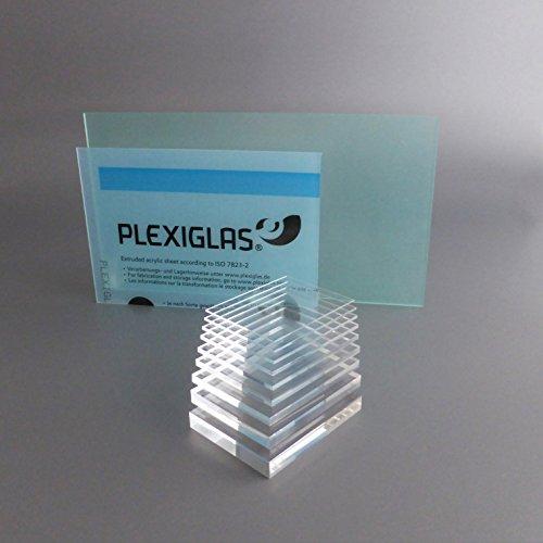 lobotec-acryl PLEXIGLAS Zuschnitt Acrylglas Zuschnitt 2-20mm Platte glasklar Top (10 mm, 400 x 400 mm)