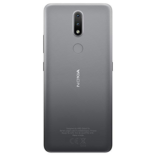 Nokia 2.4 Android 10 Smartphone with Large HD+ Screen, Night Mode and Portrait Mode, 2-Day Battery Life | Charcoal Grey