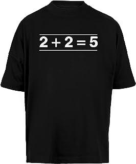 2 + 2 = 5 Unisex Camiseta Holgada Hombre Mujer Mangas Kortas - Unisex Baggy T-Shirt Black