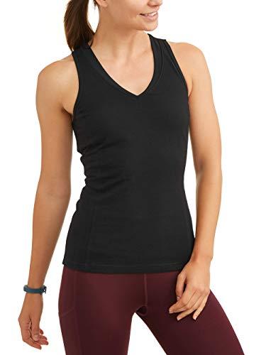 Athletic Works Women's Dri More Core Shelf-Bra Racerback Tank, Black, M