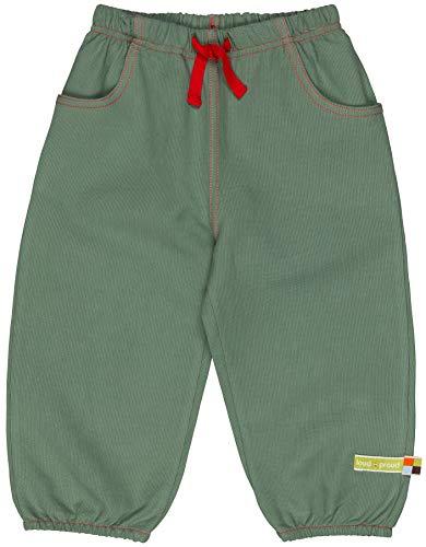 loud + proud Unisex Baby Hose Rippenstruktur, aus Bio Baumwolle, GOTS zertiziziert, Grün (Olive Oli), 80 (Herstellergröße: 74/80)