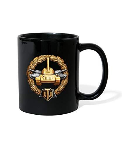 World Of Tanks Medaille Großkaliber Panzer Tasse einfarbig, Schwarz