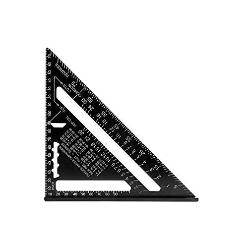 H HOMEWINS 17 CM Metrisch Professionell Dreieck-Winkelmesser Aluminiumlegierung Dreieck Lineal Anschlagwinkel Messwerkzeug für Zimmermann, Dachdecker, Ingenieur