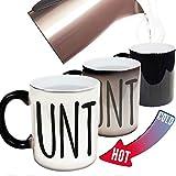 LILONGXI Thermoeffekt Tasse,UNT Schrift Keramik Muster Drucken Hot Ändern Der Farbe Ändern Magic Coffee Mug, Lustige Personalisierte Milch Trinkwasser Neuheit Kaffee Tasse