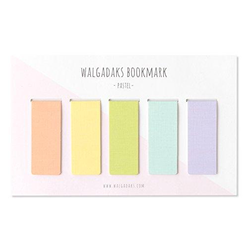 Monolike Magnetic Bookmarks Pastel, Set of 5