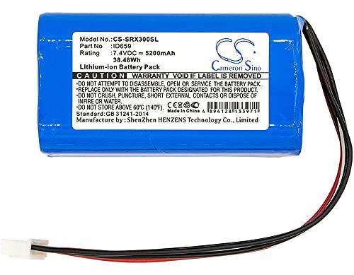 5200mAh Replacement Battery for Sony SRS-X30 SRS-XB3 SRS-XB30 Speaker, fits Part no ID659 ST-06S ID659B 7.4V Li-ion