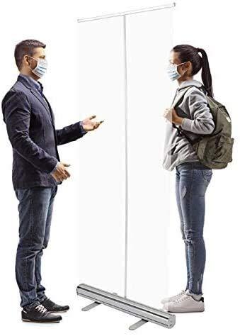 Piso Transparente portátil de pie Sneezing Guard PVC, Marco Plegable portátil, Oficina de cafetería de Oficina Recibo de cajero de 32 Pulgadas x 79 Pulgadas (Size : 80 * 200in(32 * 79in))