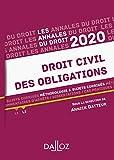 Annales Droit civil des obligations 2020 - Méthodologie & sujets corrigés