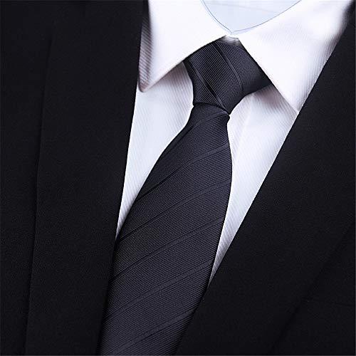 WUNDEPYTIE Vestido De Negocios para Hombres Rayas Multicolores Boda Coreana Tipo 6Cm Corbata Pequeña, Mano Negra De 8 Cm