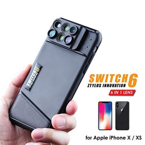 Ztylus interruttore 6per iPhone x: 6-in -1ottica Dual System (Fisheye, teleobiettivo, grandangolo, macro e super macro), doppio strato di protezione, Cruz V2 Fresh Foam, iPhone X