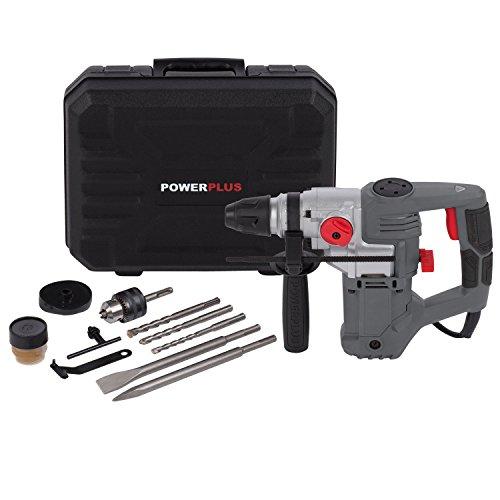 POWERPLUS POWE10060 POWE10060-Martillo Perutor 900W, Schwarz, Grau, Rot, Silber