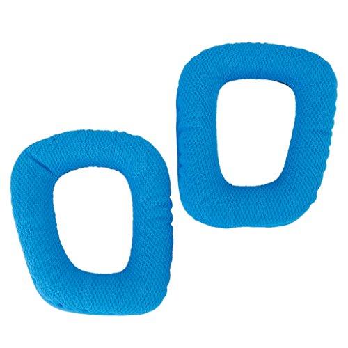 D DOLITY Par de almofadas de substituição para fones de ouvido Logitech G35/G930/G430/F450, azul