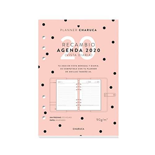 Recambio agenda 2020. Vista diaria. A5