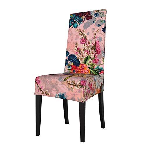 LESIF Fundas elásticas para silla de comedor, funda protectora de verano botánica para sillas de jardín, extraíble y lavable, suave para cocina, hogar, restaurante