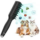 Cepillo de Aseo de Mascotas, Esterilización de Ozono Eléctrica Inteligente Mascotas Alivio de Presión Masaje Peine Herramienta de Aseo - La Mejor Eficiencia de Desodorización para Perros y Gatos