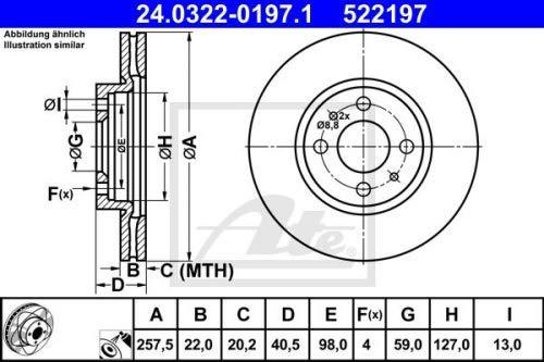 2x BREMSSCHEIBE POWERDISC BELÜFTET Ø 2575 MM VORNE (24.0322-0197.1) ATE Set24.0322-0197.1 Bremsanlage