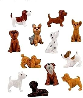 18 Pieces - Complete Set Plus 6 More Adopt a Puppy Dog Figures Dachshund Basset Hound Bull Terrier Jack Russell Dalmatian Black Labrador Yorkshire Boxer Bloodhound Bulldog Poodle Chihuahua Toy