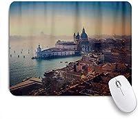 VAMIX マウスパッド 個性的 おしゃれ 柔軟 かわいい ゴム製裏面 ゲーミングマウスパッド PC ノートパソコン オフィス用 デスクマット 滑り止め 耐久性が良い おもしろいパターン (ヴェネツィアイタリア都市都市の建物)