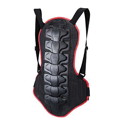 Wildken Rückenprotektor Snowboard Schutzkleidung EVA-Polsterung mit Nylon Stoff für Motocross Motorrad Ski Skating Fahrrad Radsports(Rot & Schwarz)
