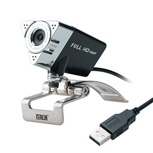 Lysport 1080P HD Webcam Web Camera con Microfono Incorporato per Qualsiasi Notebook e PC Desktop