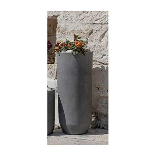 Vaso cilindro alto in resina Cilindro Ardesia CILAR 35 Telcom Vasar effetto cemento