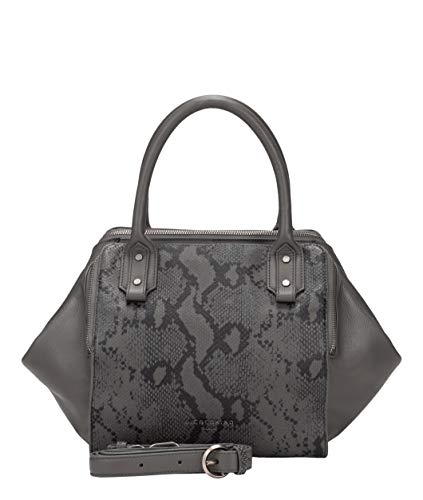 Liebeskind Berlin Dames Heritage Group-Kayla Satchel Small Handtas, Grijs (Dark Grey), 11x26x45 cm