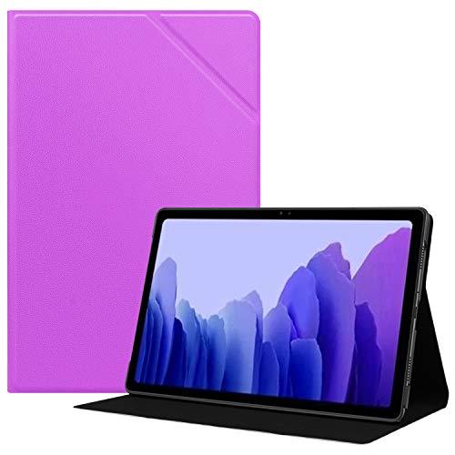 HoYiXi Funda para Samsung Galaxy Tab A7 10.4 2020 Estuche de Tableta Funda de Cuero Delgada con Función de Soporte Funda Cover para Samsung Galaxy Tab A7 2020 T500 / T505 - Morado Oscuro