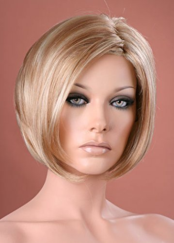 Forever Young Damen-Perücke, Kurzhaarfrisur, zweifarbig blond, Bob