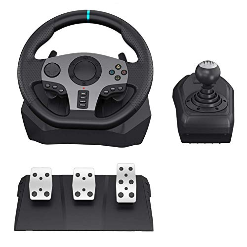 Spiel Lenkrad PC 900 Grad Doppelschwingungslauf Lenkrad mit Schalthebel für PC / P3 / P4 / Box Eins/Switch