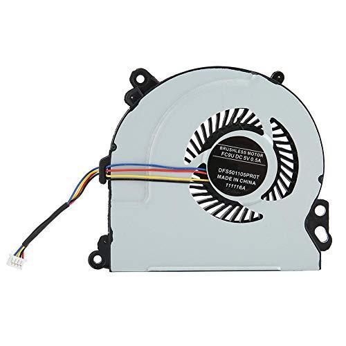 Ventilador de refrigeración de CPU, Conector de 4 Pines DC 5V Ventilador de CPU de Ordenador para HP Envy 15 720235-001, Ventilador de refrigeración de CPU