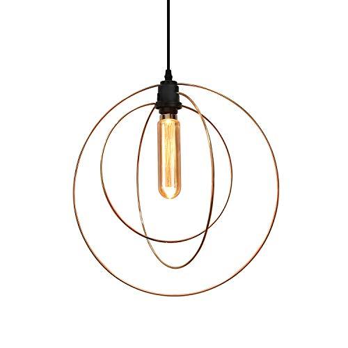GBLY gouden hanglamp eettafel in hoogte verstelbaar, 3 ringen hanglamp, E27 max. 40 W (excl.), 1 moderne hanglamp, hanglamp van metaal voor woonkamer, slaapkamer, eetkamer, keuken, enz.