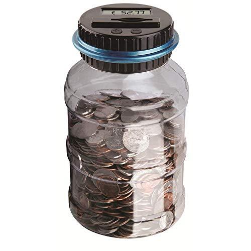 BESTZY Digitale Piggy Bank Euro Counter,Münze Zählen Geld Sparen Box Münze Zählwerk Münze Bank mit LCD Dispaly für Kinder und Erwachsene (Euro)